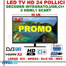MONITOR TV LED HD READY 24'' TOSHIBA 24E1653D DVB-T2/C,2HDMI,1 SCART,VGA,USB,CI+