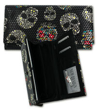 New Design Wallet black Ladies Wallet Skull Plastic OPD713S