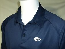 Mens Nike FITDRY Casual Golf Polo Shirt, Large, Blue, Cool Stretch Fabric