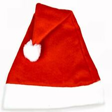 100 Felt Santa Hats - Christmas - Wholesale Bulk Pack
