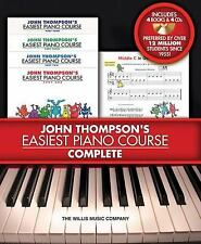 JOHN THOMPSON'S EASIEST PIANO COURSE- COMPLETE SET with 4 BOOKS 4 CDS