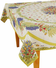 """60"""" x 96"""" Rectangular COATED Provence Tablecloth - Rose Lavender"""