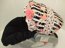 PEACH,CORAL,MINT CANOPY/MINKY INFANT CAR SEAT COVER/GRACO FIT&custom most brands