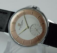 OLD GIRARD PERREGAUX SWISS WATCH REFINISHED TWO TONE TEXTURED DIAL