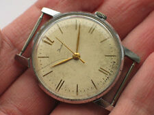 '1970s Old soviet ZIM POBEDA watch Classic beige dial USSR / CCCP *SERVICED*