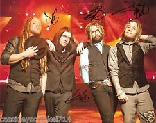"""Shinedown band Reprint Signed 8x10"""" Photo #4 RP ALL 4 Members Brent Smith"""