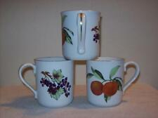 Set of 3 Royal Worcester Evesham Gold Trim Coffee Mugs
