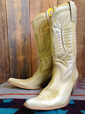 vtg JOE SANCHEZ leather COWBOY boots SIZE 5 western ROCKABILLY pinup EXTREME toe