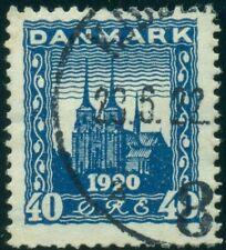 "DENMARK #160v 40ore blue, ""Hook on 4"" variety, used, Facit $150.00"