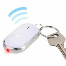 1x Whistle Key Finder Led Flashing Beeping Locator Remote Key chain Ring White