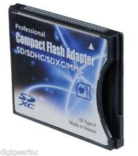 SDXCF SD/SDHC/SDXC to CF Type II Adapter Reader for 8/16/32/64/128 GB SD eye-fi