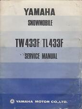 1974 YAMAHA SNOWMOBILE TW433F & TL433F  SERVICE MANUAL (510)