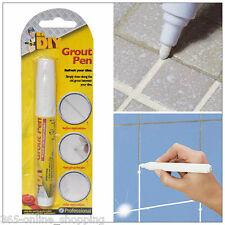 WHITE GROUT PEN REVIVER STICK KITCHEN SHOWER TILE BATHROOM CLEAN TILES ANTIMOULD