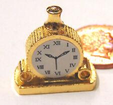 Échelle 1:12 non fonctionnel en métal manteau horloge maison de poupées miniature accessoire 332
