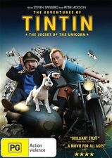 THE ADVENTURES OF TINTIN: The Secret of the Unicorn DVD Steven Spielberg NEW R4