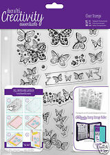 Docrafts Papermania surtido Mariposas A5 sello 16 set+carpeta de almacenamiento