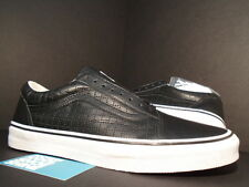 2015 VANS OLD SKOOL SUPREME PERF CHECK BLACK LEATHER WHITE RED VN-01R1HD8 DS 9.5