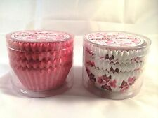 2 Pack 100 heart and dots Cup cake Case assorted design Making Cupcake.