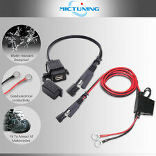 MICTUNING SAE to USB Cable Adapter Waterproof USB Charger Quick 2.1A Port F