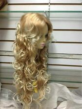 HESW44  long blonde mix natural hair curly wigs for modern women wig