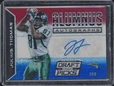 JULIUS THOMAS 2015 PRIZM DRAFT PICKS ALUMNUS RED WHITE BLUE PRIZMS AUTO #D 1/1