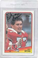 Rick Bryan 1988 Topps #392 Autographed Football Card Atlanta Falcons DECEASED
