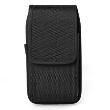 Black Nylon Vertical Holster Belt Pouch Case for Samsung galaxy Note 5 / S7 Edge