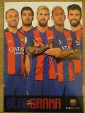Autogrammkarte AK MESSI/NEYMAR/SUAREZ/PIQUE/INIESTA FC Barcelona 16/17 2016/2017