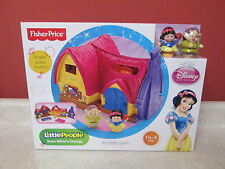 Fisher Price Snow White Cottage Little People Dopey New Sealed OOP Plays Music