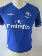 Chelsea Home Shirt Signed by Eddie Newton and Di Matteo Football Shirt COA 34414