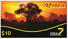 PREPAID CALLING CARD INTERNATIONAL LOW COST PHONE CALLS AFRICA BY VOICE7