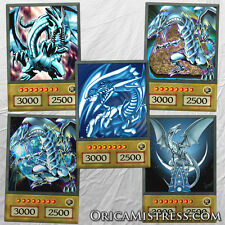 Yu-Gi-Oh! Custom Anime Orica - BLUE EYES WHITE DRAGON - 5 Card Set