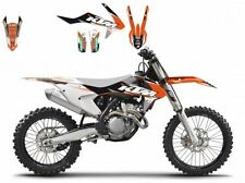 BLACKBIRD KTM SX 125 2016 2017 KIT GRAFICHE ADESIVI DREAM 3 GRAPHIC NERE ARANCIO
