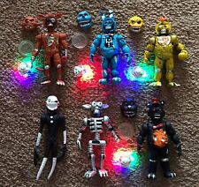 MEXICAN TOY ACTION FIGURE  6 PACK 4 W/LIGHT NIGHTMARE FIVE NIGHTS FREDDYS 4.5""