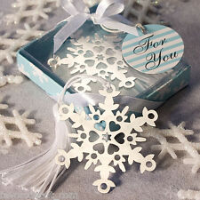 10 Snowflake Bookmark Favors wedding favors winter favor