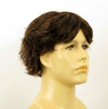 Perruque homme 100% cheveux naturel châtain ref LUCIEN 6spw