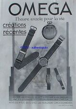 PUBLICITE OMEGA MONTRE GOUSSET OLYMPIADE A LOS ANGELES DE 1933 FRENCH AD WATCH