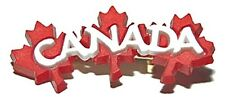 RED & WHITE CANADA MAPLE LEAF PIN