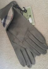 Authentic Burberry Gloves Gray Leather With Silk Lining  SZ 7 NWT  @Super Gift@
