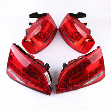 For Audi A4 B8 Sedan 08-12 4Pcs Rear Outer+Inner Tail Light LED Brake Lamp X4