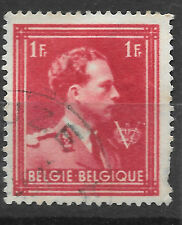 make an offer - 1F red Belgium stamp from 1940s