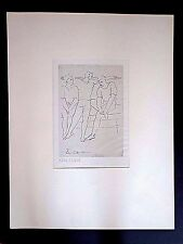 Original Picasso ltd ed XVIII/XXIX copperplate engraving  Ballet Dancers INV2567