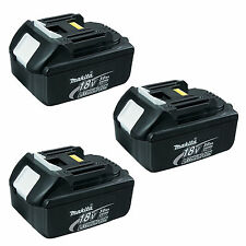 MAKITA 18V LXT LITHIUM ION BL1830 BATTERIES  3.0AH - GENUINE 3 PACK STAR MARKED