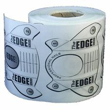 THE EDGE ROLL OF 250 PERFECT 'C' CLEAR NAIL SCULPTING FORMS  acrylic UV gel tips