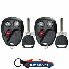 2 Replacement for 2002-2009 Chevy Trailblazer : Key Entry Fob Remote Set