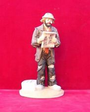 Emmett Kelly, Jr .signed  clown Figurine Hand Painted  10 Years of Collecting