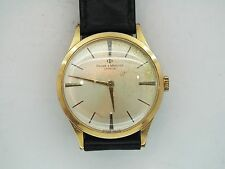 VINTAGE 1950/60'S GENTS THIN BAUME & MERCIER BATON DIAL MECHANICAL WRIST WATCH