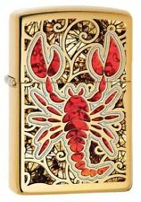 Zippo Windproof Fusion (Stained Glass) Scorpion Lighter, 29096, New In Box