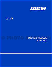 1979 1980 1981 1982 Fiat X19 Shop Manual X 19 Repair Service Book