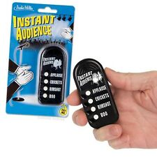 Instant Audience - 4 Different Sounds Applause, Crickets, Rimshot and Booing